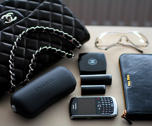 chanel, blackberry, and black image