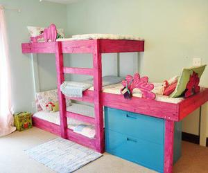 blue, interior design, and pink image