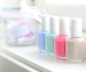 nails, essie, and girly image