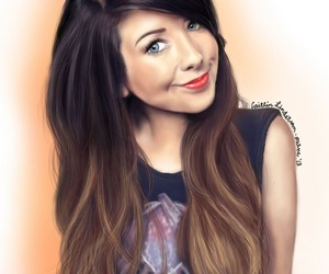 drawing, zoella, and zoe sugg image