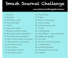 journal, challenge, and ideas image
