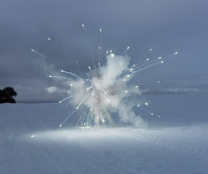 fireworks, snow, and light image