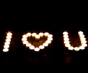 love, candle, and I Love You image