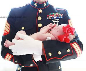 baby, Marines, and military image