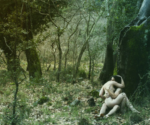 forest, lovers, and love image