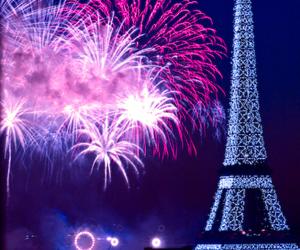 paris, fireworks, and light image