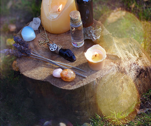 candles, witchcraft, and wiccan image