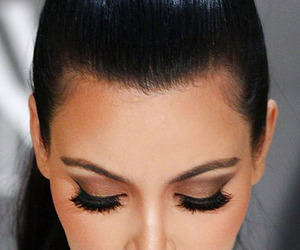 kim kardashian, makeup, and beauty image