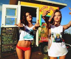 bikini, fun, and friends image