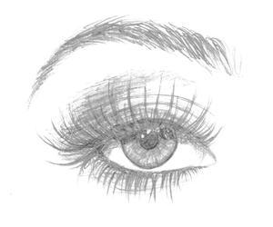 drawing, eye, and beautiful image