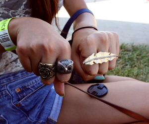 fashion, legs, and rings image