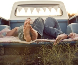 bare feet, barefoot, and camping image