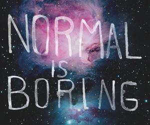 normal, boring, and galaxy image