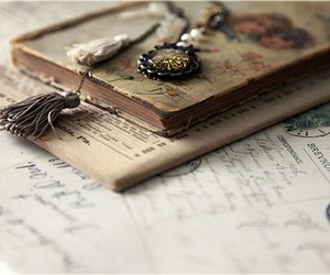 book, vintage, and Letter image