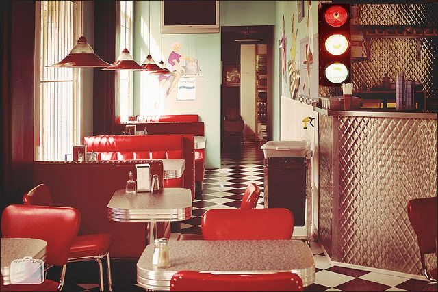 50s, cafe, and retro image