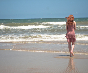 beach, hair, and lovely image