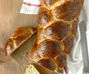 bread, challah, and yeast image