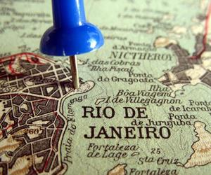 city, map, and rio image