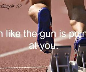gun, track, and track and field image