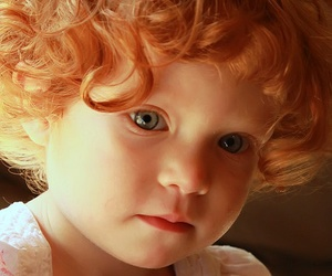 child, redhead, and baby image