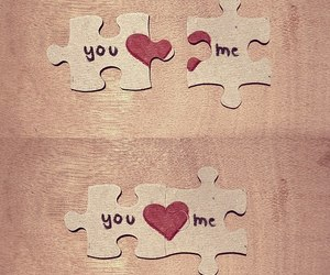 love, puzzle, and heart image