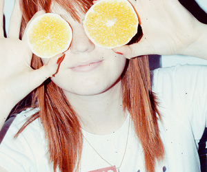 girl and orange image