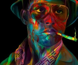 art, johnny depp, and colors image