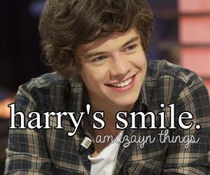 smile, Harry Styles, and one direction image