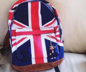 bag, backpack, and england image