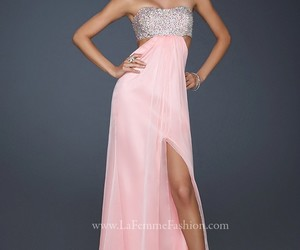 dress, evening gown, and pink image