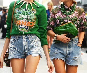 fashion, Kenzo, and green image