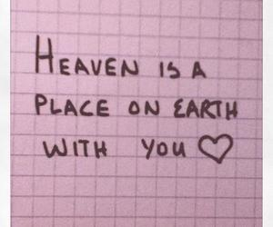 quote, heaven, and love image
