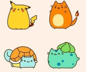 pokemon, pusheen, and cat image