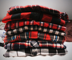 shirt, plaid, and clothes image
