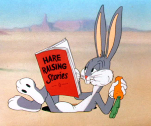 book, bunny, and carrot image