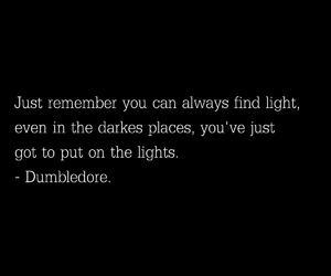 dark, Darkness, and dumbledore image