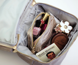 makeup, girly, and bag image