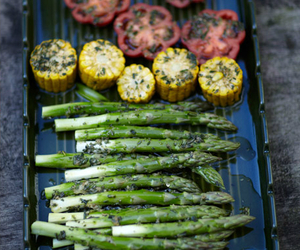 food, healthy, and asparagus image