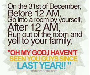 new year, december, and funny image