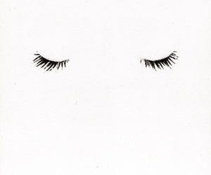 eyes, white, and eyelashes image