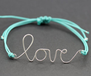 love, bracelet, and blue image