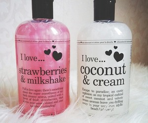 pink, coconut, and strawberry image