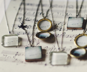 vintage, necklace, and photography image