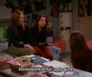 girl, homework, and ugly image