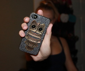 owl, phone, and iphone image