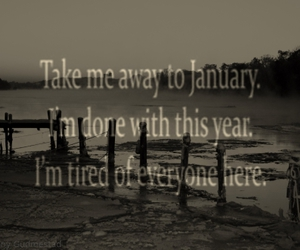 black, i miss you, and january image