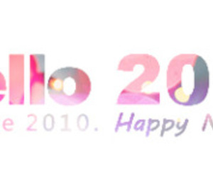 happy new year, typography, and 2011 image