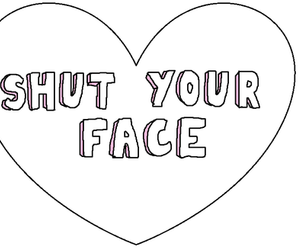 heart, face, and quote image