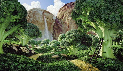 food, art, and broccoli image