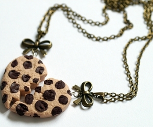 cookie, heart, and necklace image